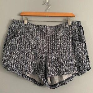 Athleta Blue & White Athletic Shorts